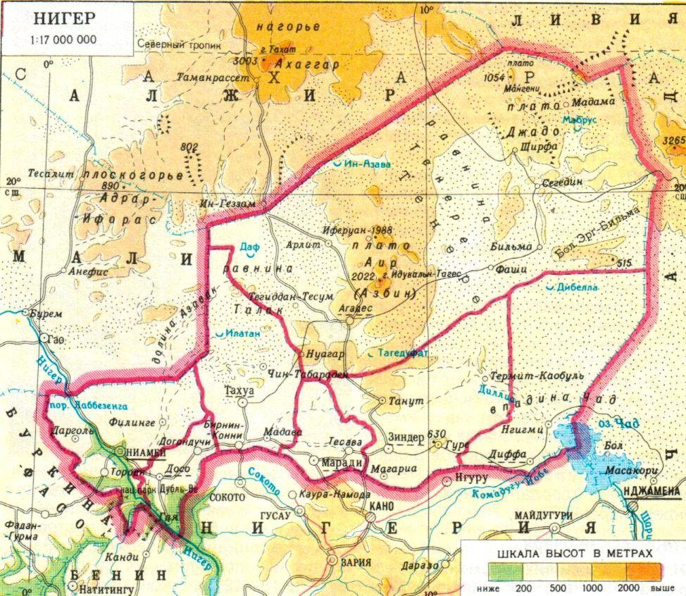 niger map geography of niger map of niger worldatlascom - 974×846